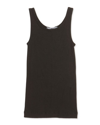 Girls' Favorite Ribbed Tank Top, Black, S-XL