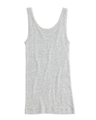 Girls' Favorite Ribbed Tank Top, Heather Gray, 4-6X