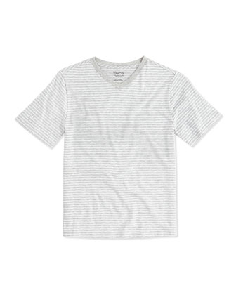 Boy's Favorite V-Neck Tee, Gray, 4-7