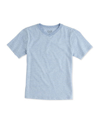 Boy's Favorite V-Neck Tee, Blue, 4-7