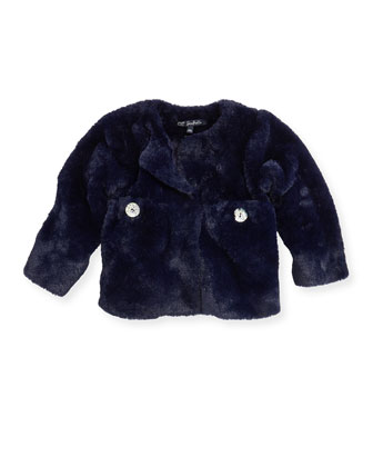 Lado Faux-Fur Jacket, Blue, Girls' 2-6