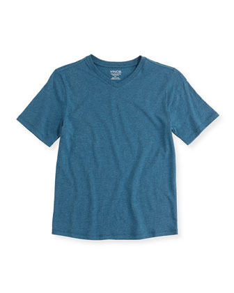 Boy's Favorite V-Neck Tee, Blue Gray, 4-7