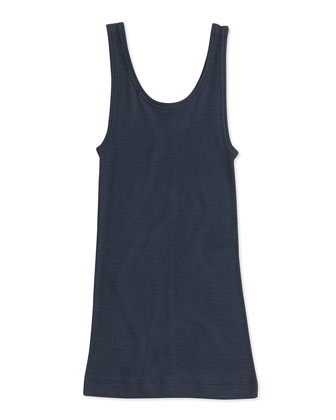 Girls' Favorite Ribbed Tank Top, Blue, 4-6X