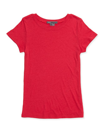 Girls' Favorite Tee, Raspberry, 4-6X