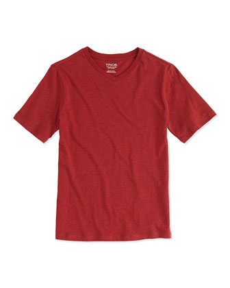 Boy's Favorite V-Neck Tee, Garnet, S-XL