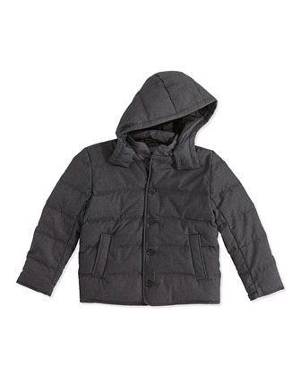 Kids' Down-Fill Puffer Jacket, Charcoal