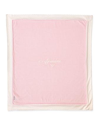 Logo Baby Blanket, Pink