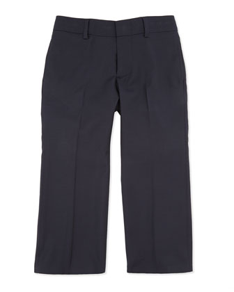 Woodsman Flat-Front Suit Pants, Navy, 2T-3T