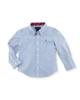 Classic Oxford Shirt, Blue, Kids' 2T-3T