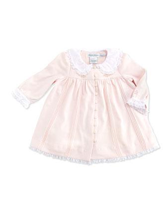 Pintuck Jersey-Knit Dress, Delicate Pink, 3-12 Months