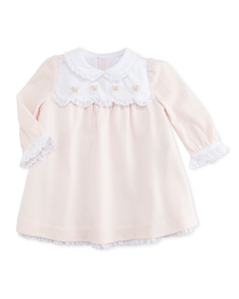 Pima Cotton Jersey Dress, Delicate Pink, 3-12 Months