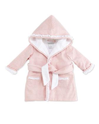 Girls' Glen Plaid Robe, Pink, 3-9 Months