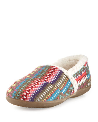 Youth Knit Sherpa-Lined Slipper