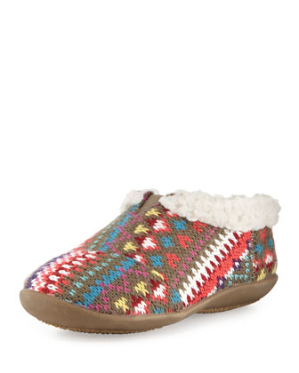 Tiny Knit Sherpa-Lined Slipper