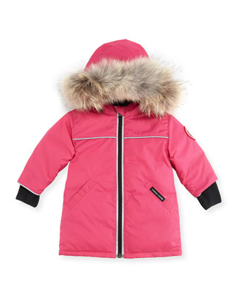 Reese Parka with Fur-Trim, Pink, 0-24 Months