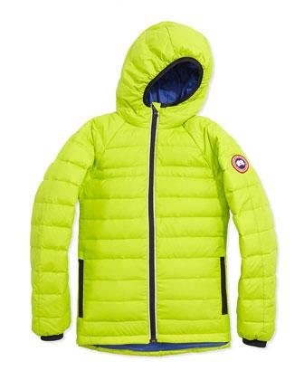 Youth Sherwood Hooded Jacket, Aurora Green, XS-XL