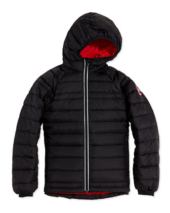 Youth Sherwood Hooded Jacket, Black, XS-XL