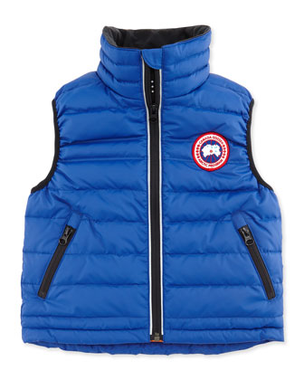 Kids' Bobcat Puffer Vest, Royal, Sizes 2-7