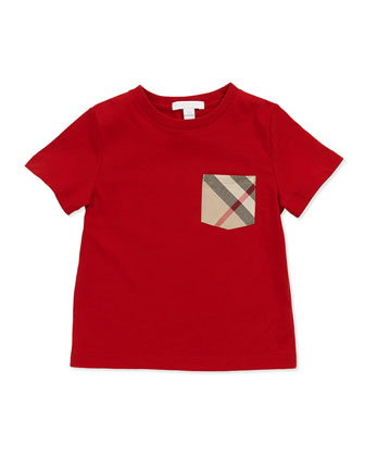 Check-Pocket Tee, Military Red
