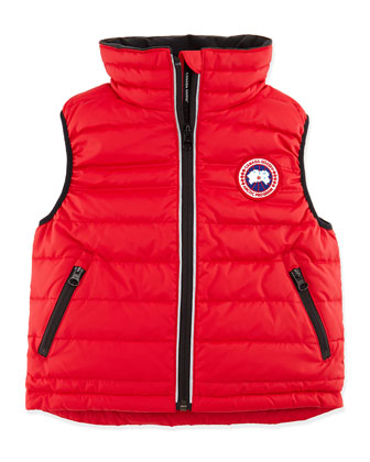 Kids' Bobcat Puffer Vest, Red, Sizes 2-7