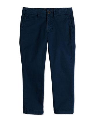 Stretch-Twill Trousers, Deep Teal Blue, 4Y-14Y