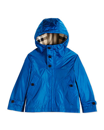 Hooded Lightweight Jacket, Bright Opal, Size 4Y-14Y