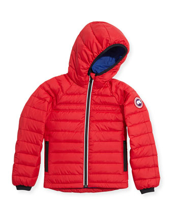 Youth Sherwood Hooded Jacket, Red, XS-XL