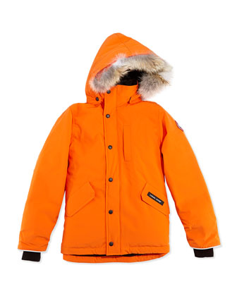 Youth Logan Parka with Fur Trim, Summit Orange, XS-XL
