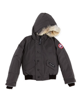 Rundle Bomber w/Detachable Fur Trim, Graphite, Youth XS-XL