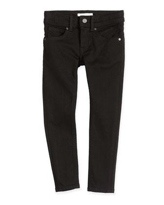Five-Pocket Skinny Jeans, Black, 4Y-14Y