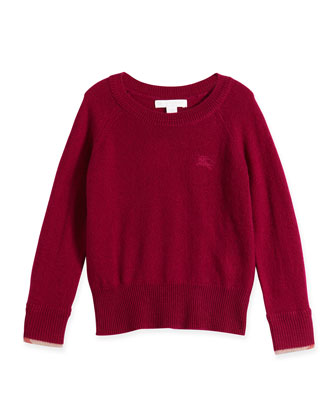 Georgey Cashmere Sweater, Bright Magenta, Size 4Y-14Y