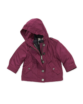 Lightweight Hooded Nylon Jacket, Long-Sleeve Tee & 5-Pocket Casual Trousers