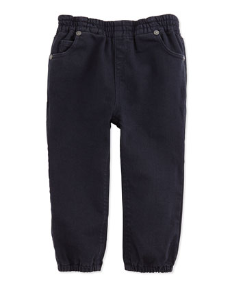 5-Pocket Casual Trousers, Dark Indigo, 3M-3Y