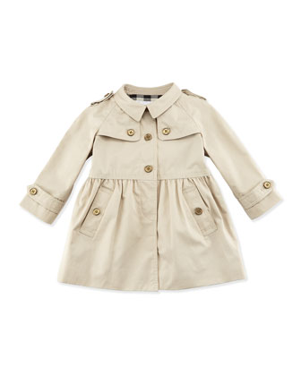 Trench Jacket, Khaki, Sizes 12M-3Y