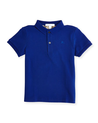 Check-Trim Polo, Brilliant Blue, 4Y-14Y