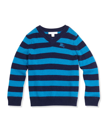 Boys' Striped Cashmere Pullover Sweater & Skinny Corduroy Pants