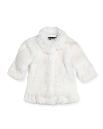 Rabbit Fur Coat, Girls' Sizes 2-12