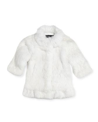 Rabbit Fur Coat, Girls' Sizes 2-12