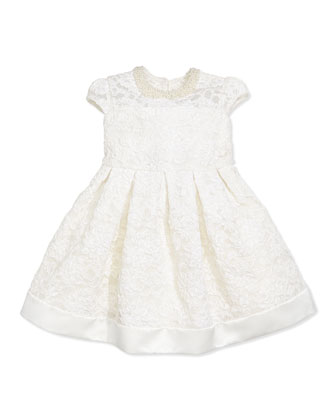 Cord Lace Dress, Ivory, Girls' Sizes 2-10