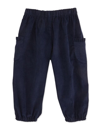 Charlotte Corduroy Pants, Navy, 3-24 Months