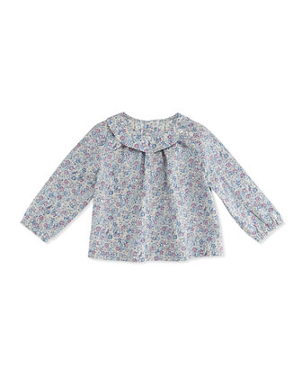 Sadie Floral-Print Tunic Top, Purple, 3-24 Months