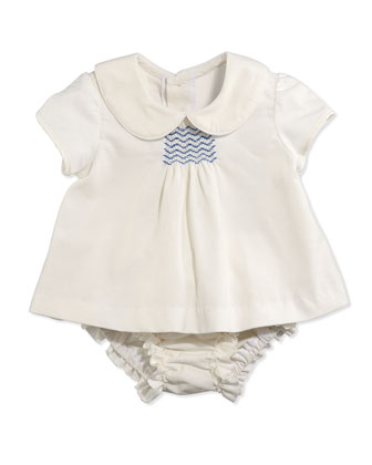 Evie Corduroy Top and Bloomers, Cream, 3-24 Months
