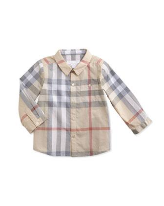Check Button-Down Shirt, 3-24 Months