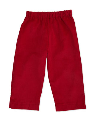 Luke Corduroy Pants, Red, 3-24 Months