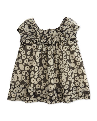 Printed Silk Dress and Bloomers, Girls' 3-24 Months