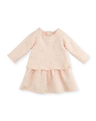 Mini-Bow Printed Fleece Dress
