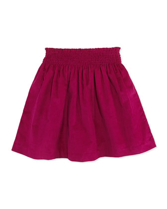 Jules Corduroy Skirt, Magenta, 2Y-12Y