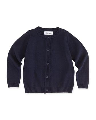 Classic Knit Cardigan, Navy, 2Y-12Y