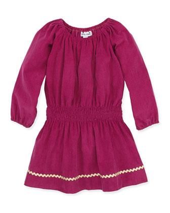 Genevieve Smock-Waist Dress, Magenta, 2Y-12Y