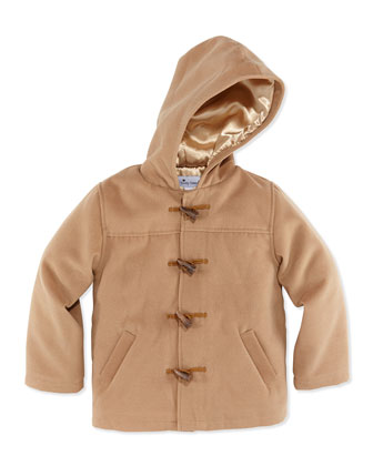 Pixley Wool-Blend Toggle Coat, Khaki, 2Y-12Y